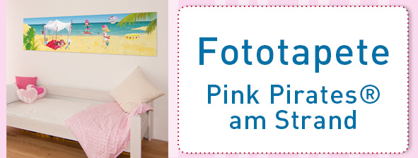 "Wandpiraten - Die Pink-Pirates-Tapete ""Am Strand"""